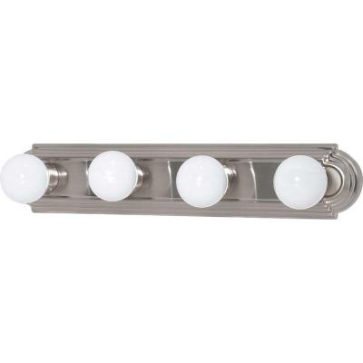 Elektra 4-Light Brushed Nickel Racetrack Style Bath Vanity Light