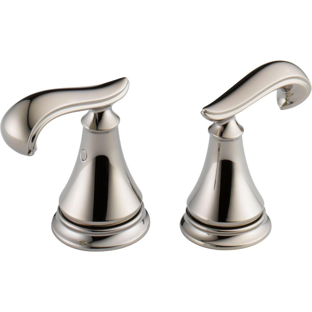 Wondrous Delta Pair Of Cassidy French Curve Metal Lever Handles For Bathroom Faucet In Polished Nickel Theyellowbook Wood Chair Design Ideas Theyellowbookinfo