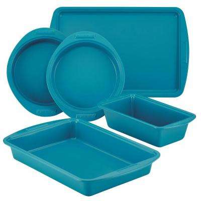 5-Piece Marine Blue Bakeware Set