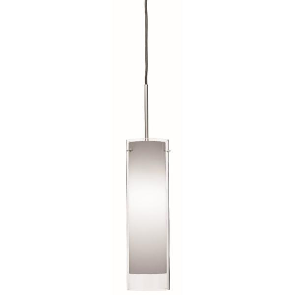 Afx View 10 Watt Integrated Led Satin Nickel Pendant With Glass Shade Vip1000l40d1snwh The Home Depot
