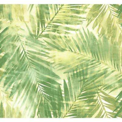 Seabrook Designs Kentmere Tropical Leaf Green And White Paper Strippable Roll Covers 60 75 Sq Ft Lg90904 The Home Depot