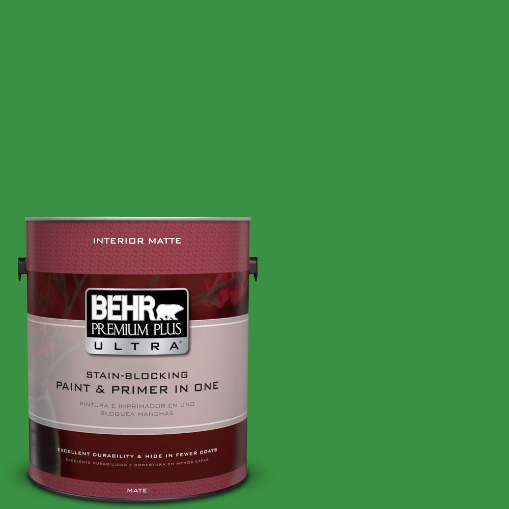 1 gal. #440B-7 Par Four Green Flat/Matte Interior Paint