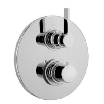 Elix 2-Handle 1-Spray Shower Faucet with Thermostatic Valve with Ceramic Disk Volume Control in Brushed Nickel