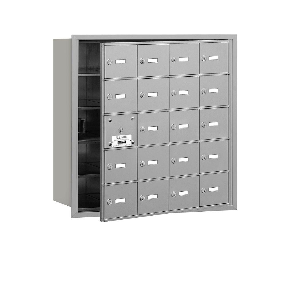 Aluminum USPS Access Front Loading 4B Plus Horizontal Mailbox with 20A