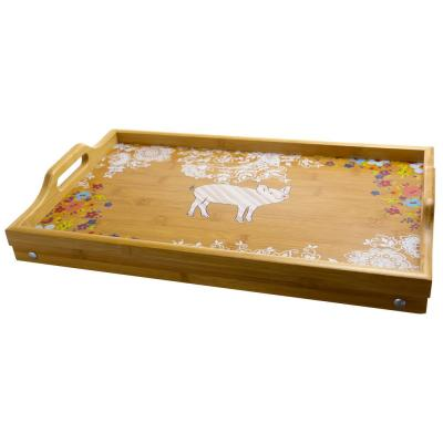 Life On The Farm Bamboo Bed Tray with Foldable Legs