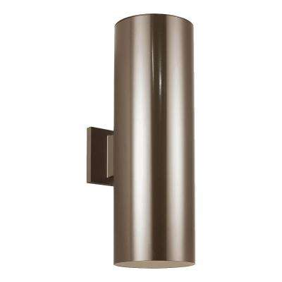 Outdoor Cylinders Bronze Outdoor Integrated LED Wall Lantern Sconce