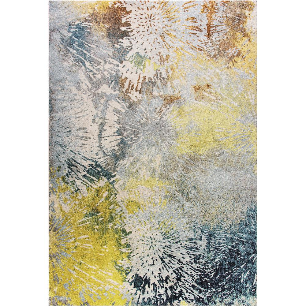 Fusion Abstract Multi 5 ft. 3 in. x 7 ft. 7
