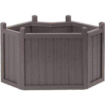 34 in. Mist All Weather Composite Corner Planter