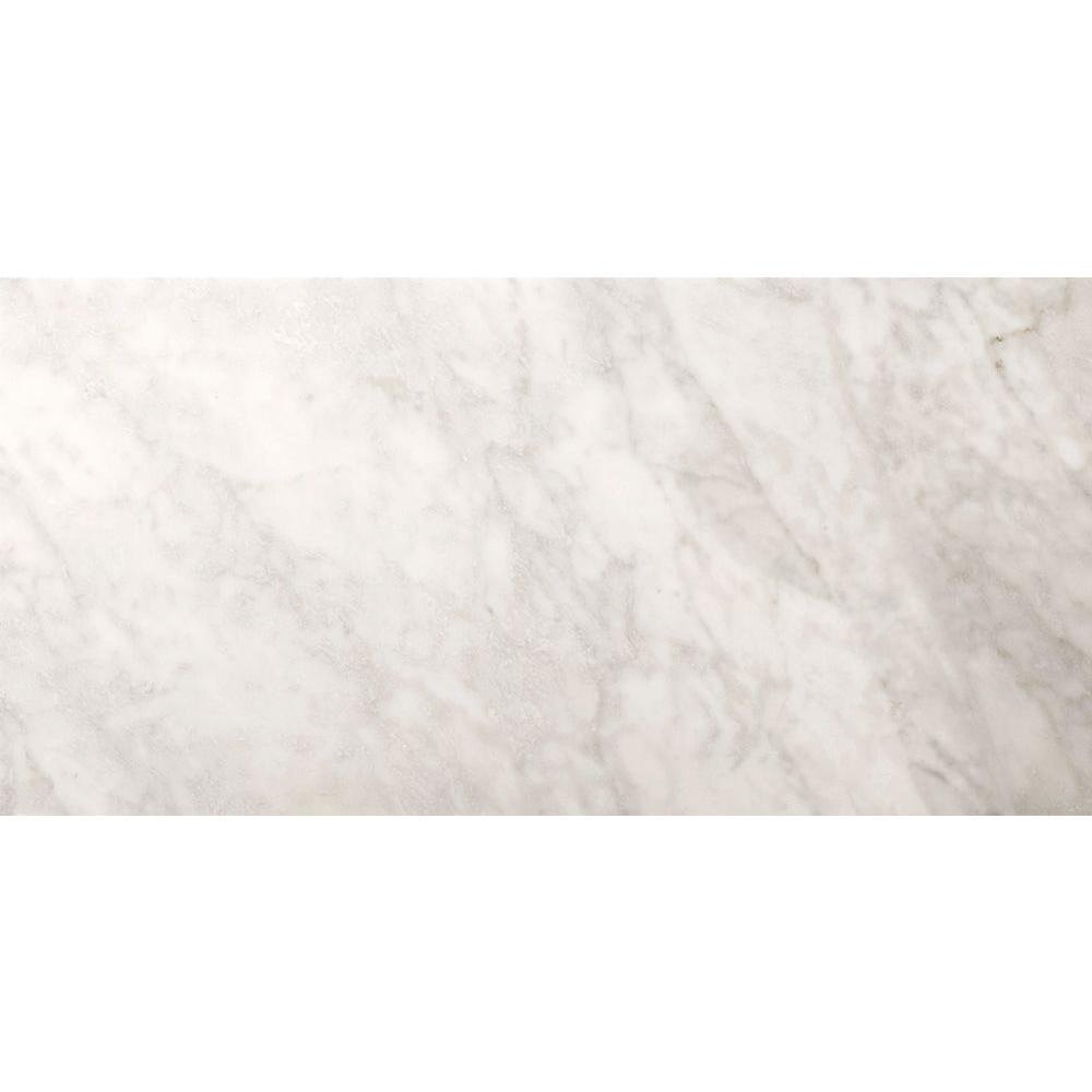 Emser Bianco Gioia 4 in. x 8 in. Marble Floor and Wall Tile