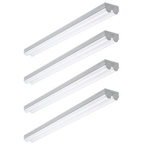 4 ft. 225-Watt Equivalent Integrated LED White Strip Light Fixture 4000K Bright White High Output 4500 Lumens (4 Pack)