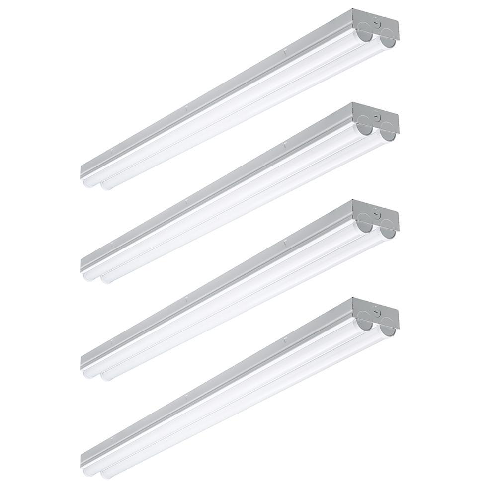4 ft. 225-Watt Equivalent Integrated LED White Strip Light Fixture 4000K Bright White High Output 4500 Lumens (4 Pack)