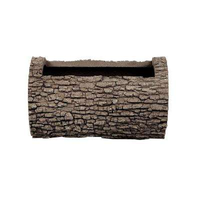 Horizontal 13 in. H Oak Bark Color Polyurethane Planter