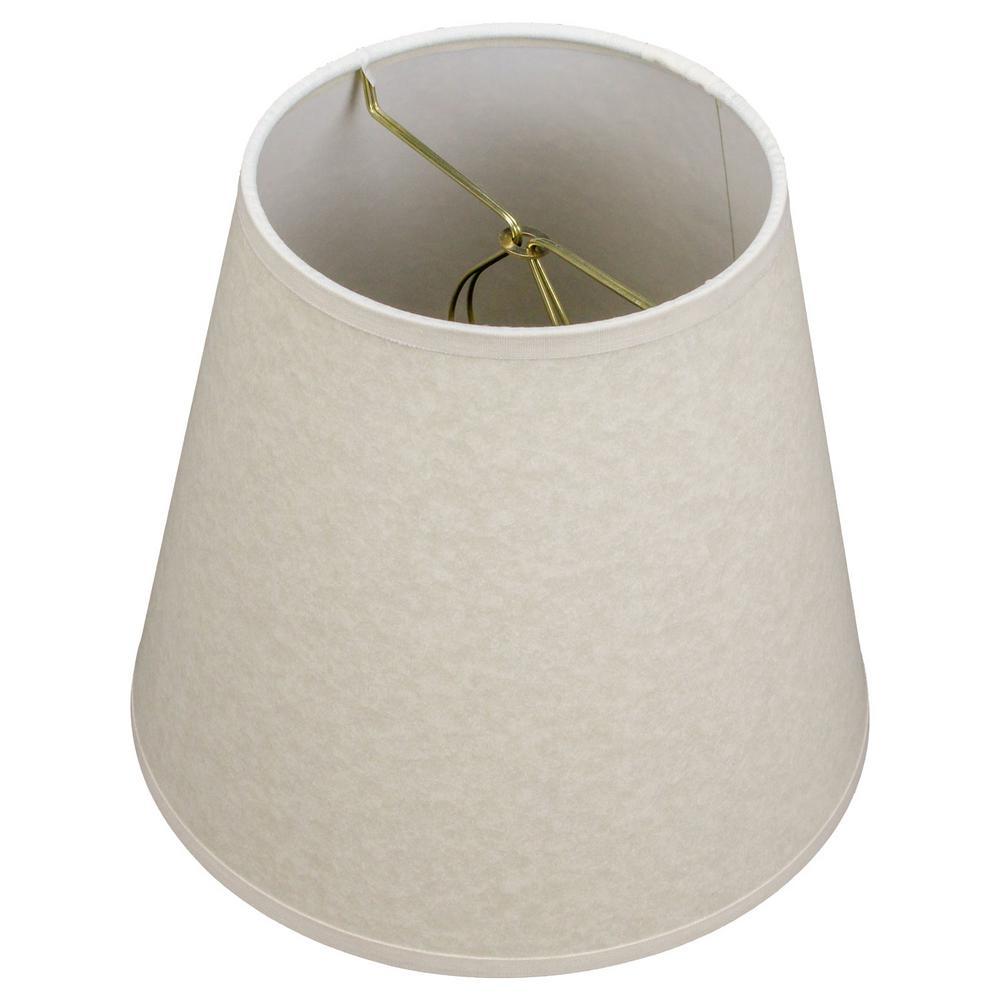 FenchelShades.com 5 in. Top Diameter x 8 in. Bottom Diameter x 7 in. Slant Paper White Elephant Empire Lamp Shade