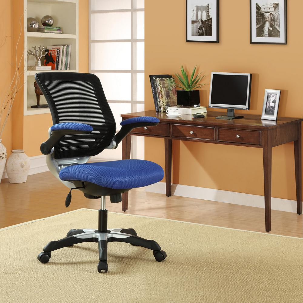 amazing home depot office chairs 4 modern. Modway Edge Mesh Office Chair In Blue Amazing Home Depot Chairs 4 Modern K