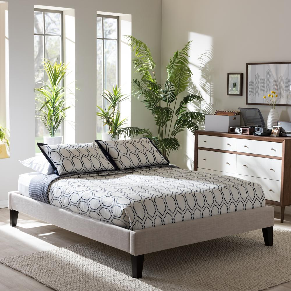 Baxton Studio Lancashire King Fabric Upholstered Bed