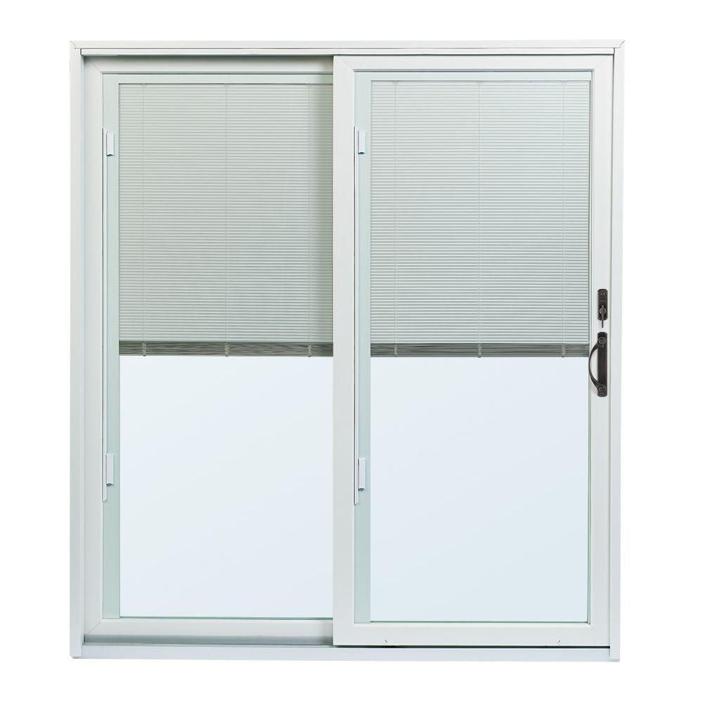 cheap blinds home depot andersen 7012 in 7912 200 series lefthand permashield gliding patio door with builtin blinds and orb hardwarepsbbglorb the home depot