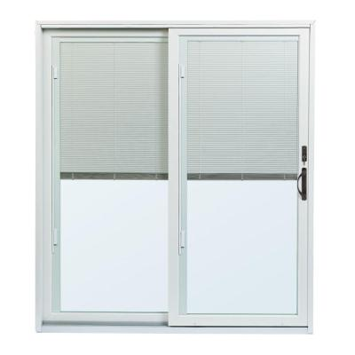 70-1/2 in. x 79-1/2 in. 200 Series Left-Hand Perma-Shield Gliding Patio Door with Built-In Blinds and ORB Hardware