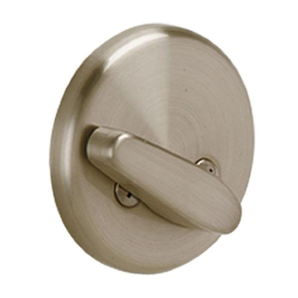 Schlage Satin Nickel One Sided Commercial Deadbolt B80 619 The Home Depot