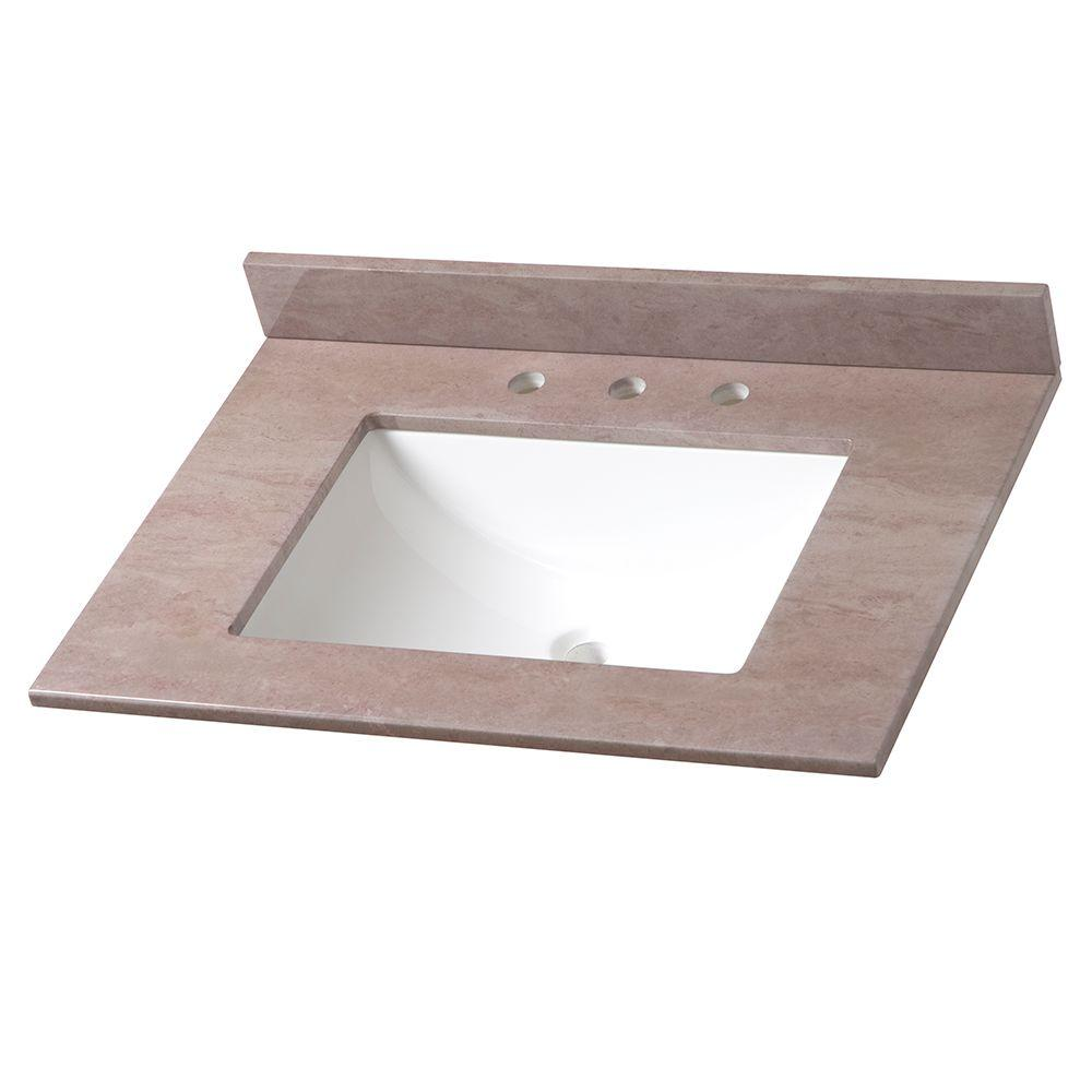 31 in Stone Effects Vanity Top in