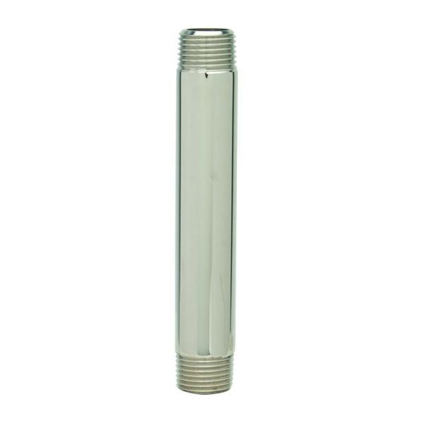 3/8 in. MIP x 4 in. Brass Pipe Nipple in Polished Nickel