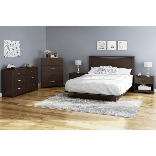 South Shore Step One 4-Drawer Chocolate Chest 10068