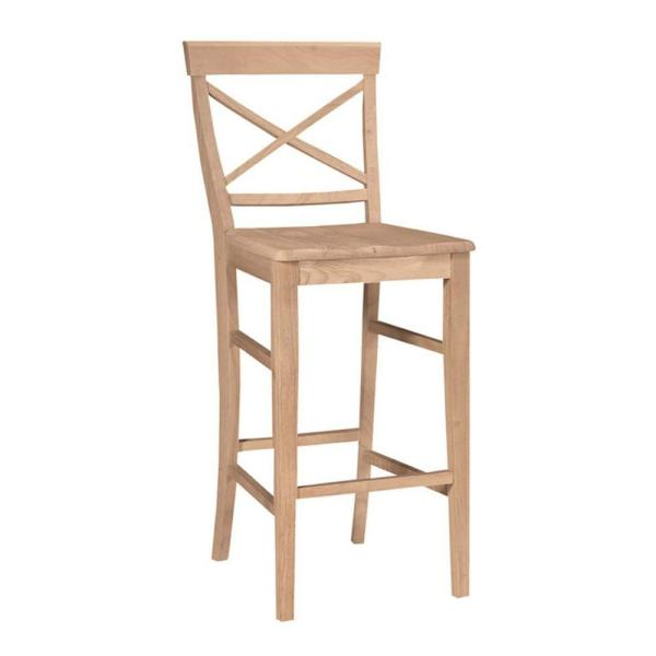 29 in. Unfinished Wood Bar Stool