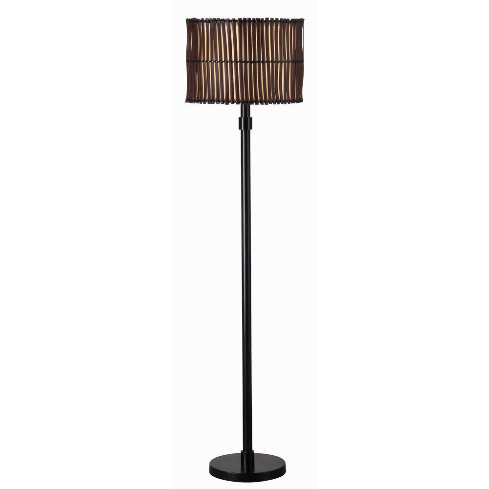 Kenroy Home Bora 59 in. Bronze Outdoor Floor Lamp