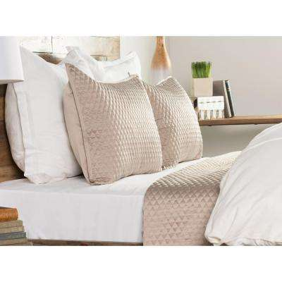 Diamond Pebble Poly Satin Quilted Standard Sham