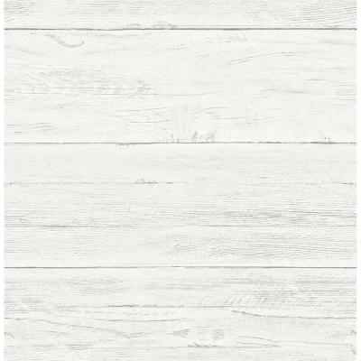 56.4  sq. ft. Colleen White Washed Boards Wallpaper