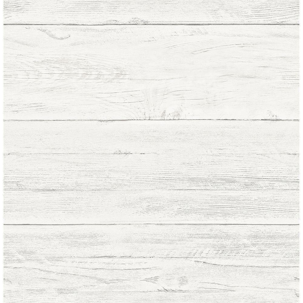 White Washed Boards Cream Shiplap Cream Wallpaper Sample