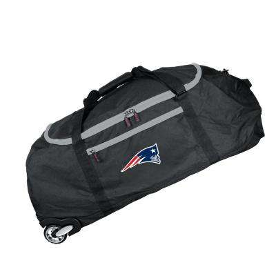 NFL New England Patriots 36 in. Checked-In Rolling Duffel in Black