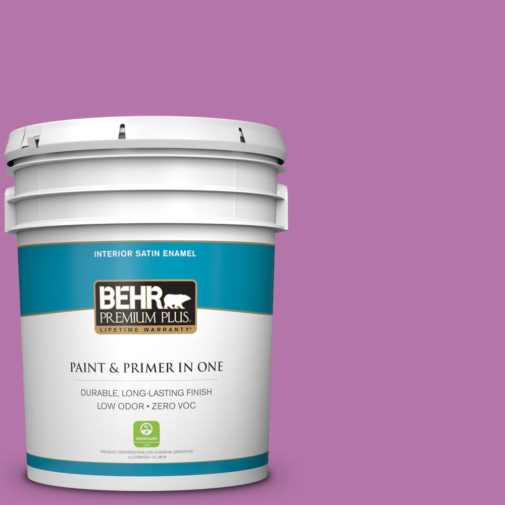 BEHR Premium Plus 5-gal. #P110-5 Girls Only Satin Enamel Interior Paint