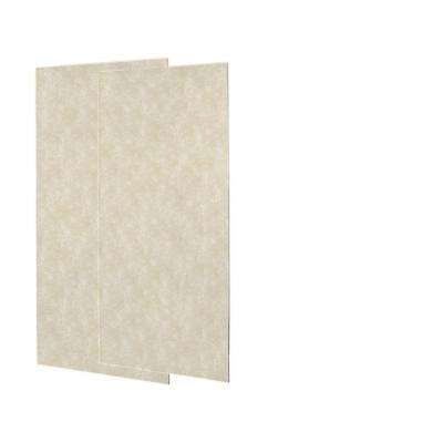 1/4 in. x 36 in. x 72 in. Two Piece Easy Up Adhesive Shower Wall Panels in Cloud Bone