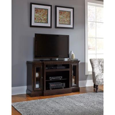 Andover Court 54 in. Tobacco Wood TV Stand Fits TVs Up to 60 in. with Storage Doors