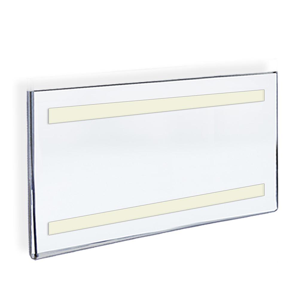 Azar Displays 17 in. x 11 in. Acrylic Clear Wall U Frame with ...