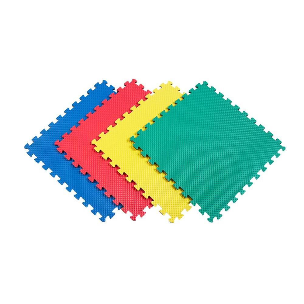 Norsk Reversible Multi-Purpose 24 in. x 24 in. Interlocking Multi-Color Foam Flooring Recyclamat (4-Pieces)