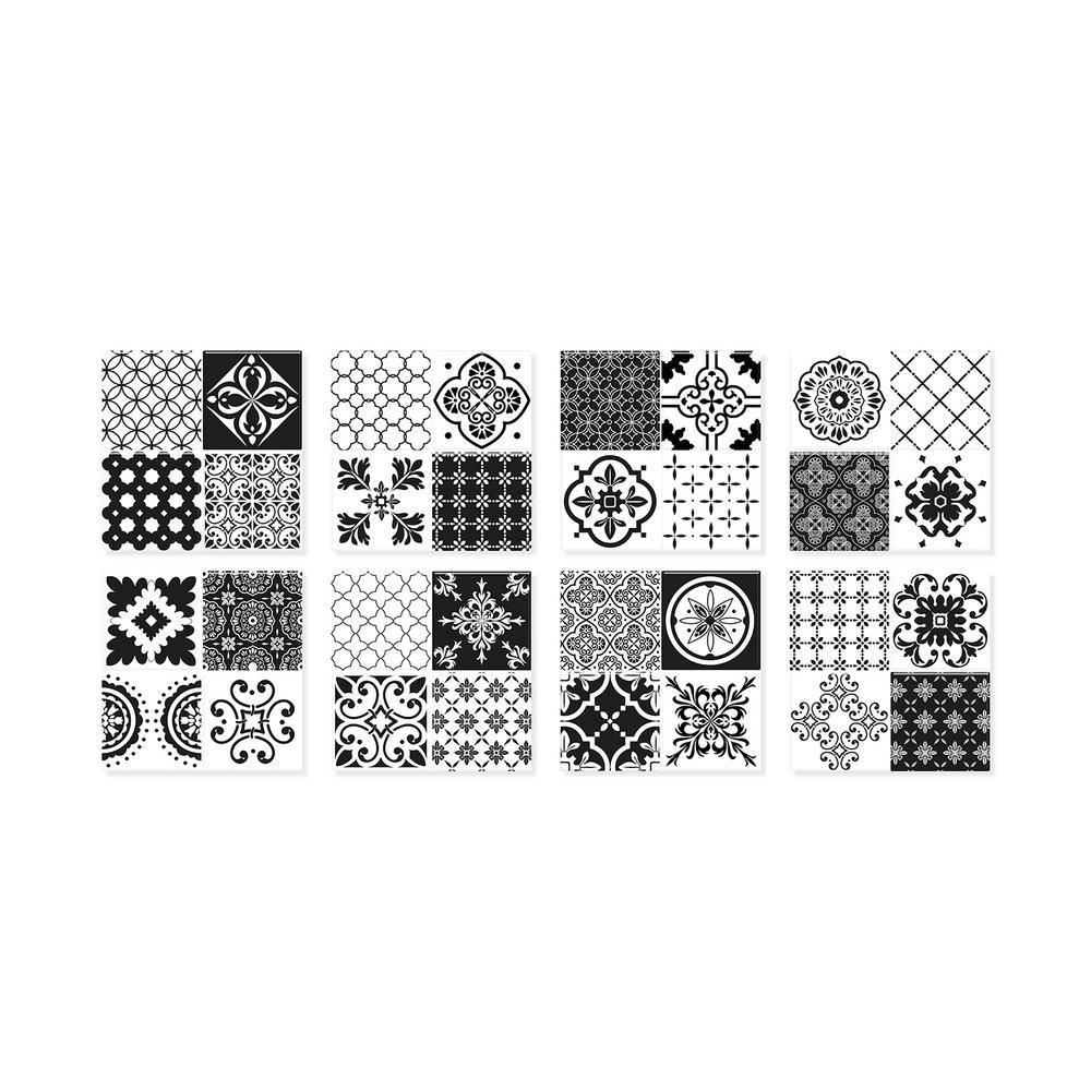 Vintage Evora 9 in. W x 9 in. H Peel and Stick Self-Adhesive Decorative Mosaic Wall Tile Backsplash (4-Pack)