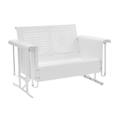 Bates 2-Person White Metal Outdoor Glider