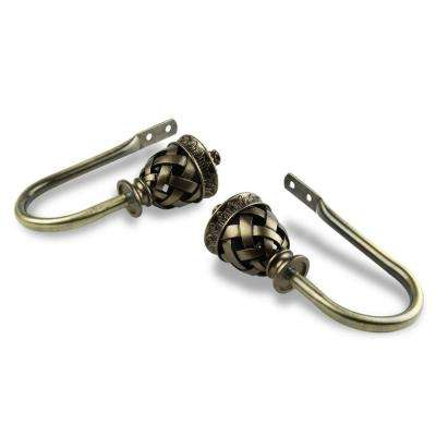 Arielle Decorative Holdback Pair in Antique Brass