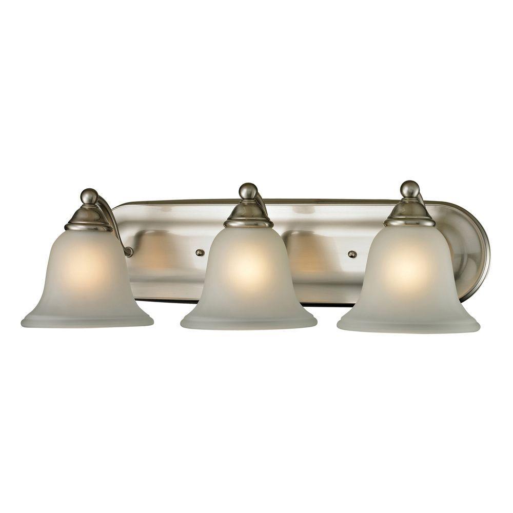Shelburne 3-Light Brushed Nickel Wall Mount Bath Bar Light
