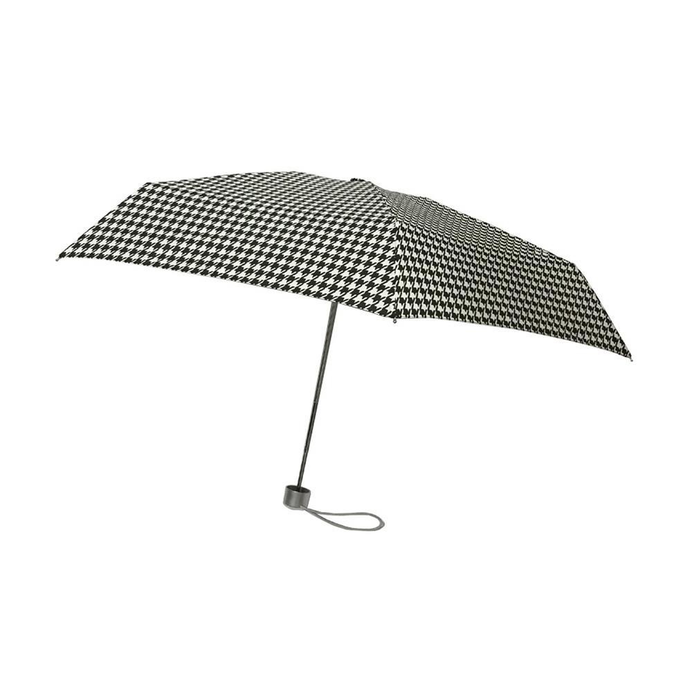 40 in. Arc Ultra Mini Manual Umbrella in Houndstooth