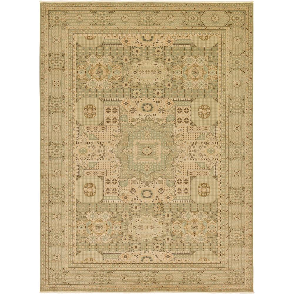 Lovely Unique Loom Palace Light Green 13 Ft. X 18 Ft. Area Rug
