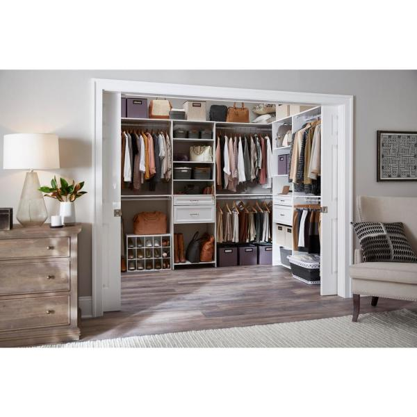 Closetmaid 19 In H X 24 In W X 12 In D White Wood Look 15 Cube Storage Organizer 8983 The Home Depot