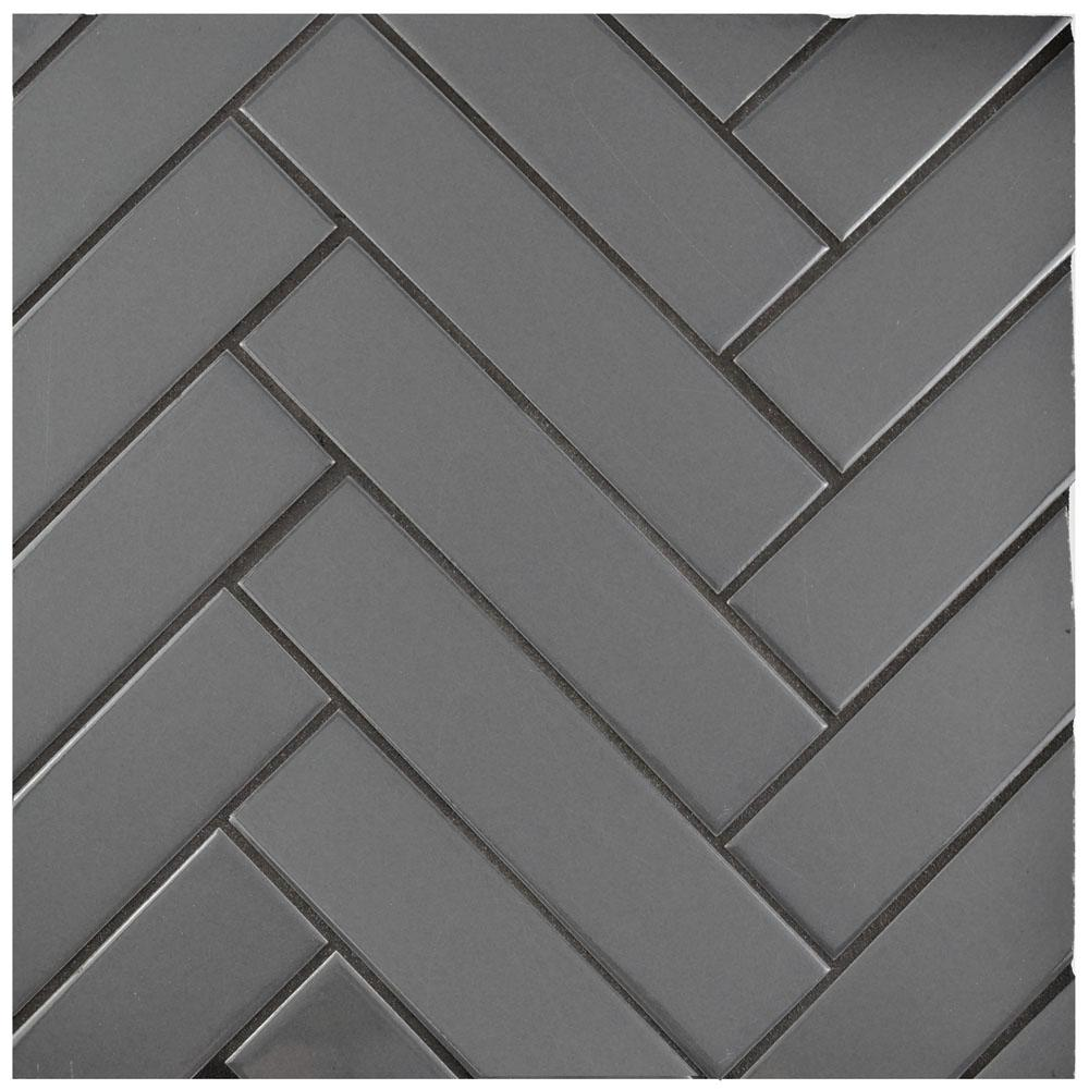 Merola Tile Metro Soho Glossy Grey 1-3