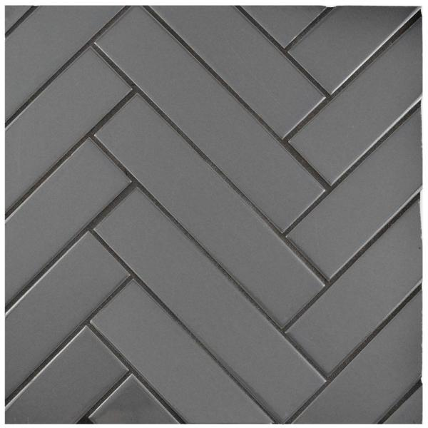 Metro Soho Glossy Grey 1-3/4 in. x 7-3/4 in. Porcelain Floor and Wall Subway Tile (1 sq. ft. / pack)