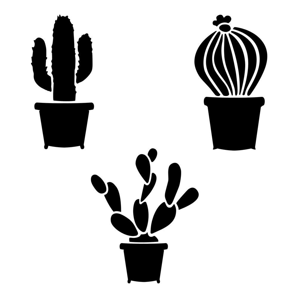 Designer Stencils Cactus Stencil 10 Mil Plastic Fs071