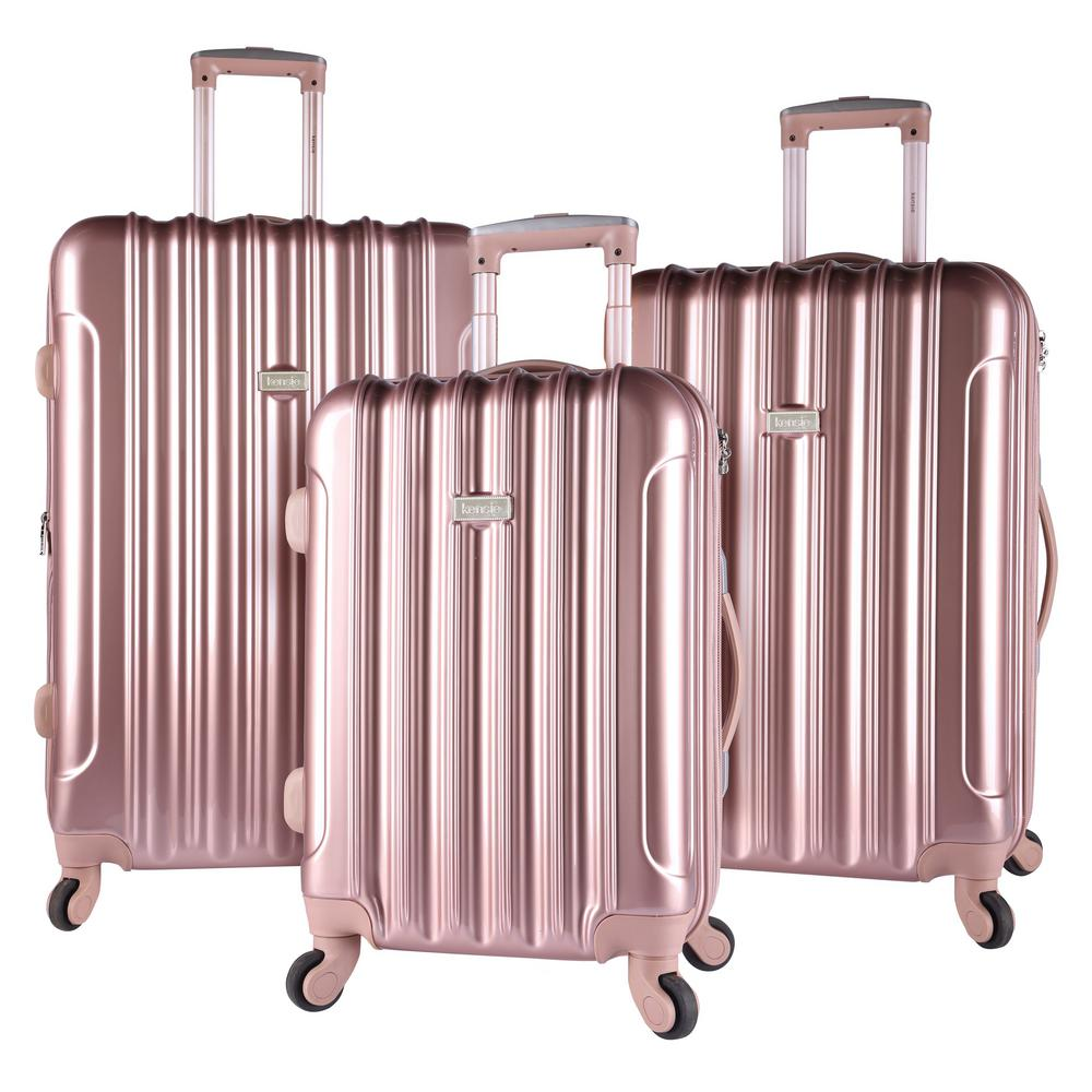 Kensie 3 Piece Rose Gold Expandable Hardside Vertical