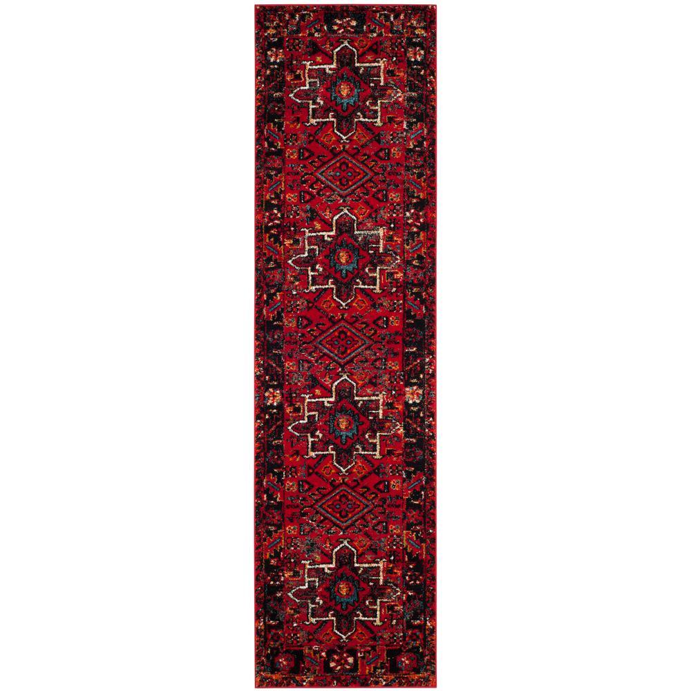 Vintage Hamadan Red/Multi 2 ft. 2 in. x 16 ft. Runner