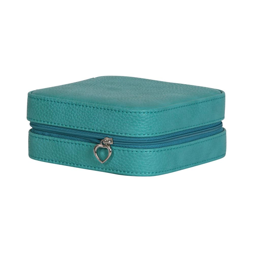 Mele Josette Turquoise Faux Leather Jewelry Box  sc 1 st  Home Depot : faux leather jewelry boxes - Aboutintivar.Com