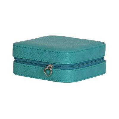 Josette Turquoise Faux Leather Jewelry Box